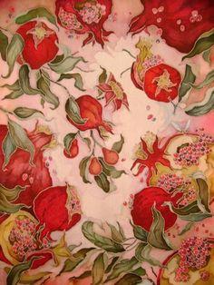 "Ohrimenko AA.  ""Pomegranates"" Batik"