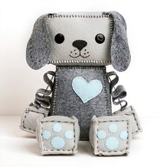 Large Puppy Robot Plush by GinnyPenny on Etsy