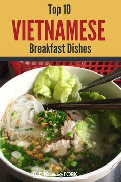 My Top 10 Tasty Vietnamese Breakfast Dishes - The Roaming Fork Vietnamese Street Food, Asian Street Food, Vietnamese Recipes, Asian Recipes, Healthy Recipes, Vietnamese Cuisine, Healthy Food, Breakfast Dishes, Breakfast Recipes