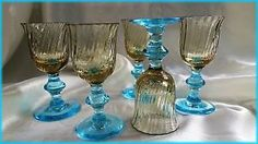 5 Anciens Verres A Liqueur SUR Pied George Sand Portieux   eBay
