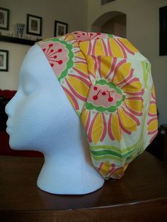 Rose Daisy  Scrub Caps by fadendesignstudios on Etsy, $17.99