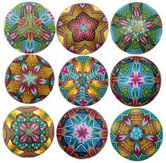 pendants 3 by 3 Carol Simmons