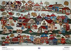 Quilts, Blanket, Empanadas, House, City, Cross Stitch Pictures, Murals, Tapestry, Rugs