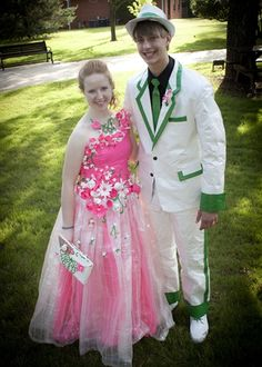 Duck tape prom dress! We won honorable mention for best duck tape jewelry :)