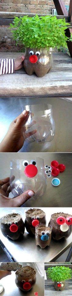 #Jardinería para niños - En una botella de plástico