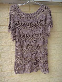 Hairpin Crochet Womens Clothing Lace Blouse por Tinacrochetstudio