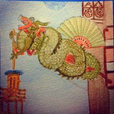 El dragón de La casa de los paraguas, edificio modernista en Las Ramblas de Barcelona. Los dragones son una de las figuras más predominantes de la iconografía catalana. Hay muestras de ellos en casi todos los ámbitos de la cultura, la arquitectura y las artes plásticas.  Tenemos dragones de fuego en casi todos los pueblos y están presentes en multitud de casas como elementos ornamentales. Sirven para sostener farolas, decorar timbres o embellecer fachadas.