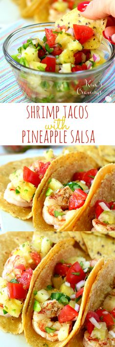 Super Simple Shrimp Tacos with Pineapple Salsa- absolutely the most perfect summer meal… light, refreshing and quick! Super Simple Shrimp Tacos with Pineapple Salsa- absolutely the most perfect summer meal… light, refreshing and quick! Fish Recipes, Seafood Recipes, Mexican Food Recipes, Cooking Recipes, Healthy Recipes, Recipes Dinner, Paleo Dinner, Quick Recipes, Quick Shrimp Recipes