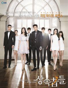 The Heirs (2013, SBS). Starring Lee Min-ho, Park Shin-hye, Kim Woo-bin, Kang Min-hyuk,Choi Jin-hyuk, Kang Ha-neul, Krystal, Kim Ji-won, Park Hyung-sik, Jeon Soo-jin and more. Airs Wednesday and Thursday at 9:55 p.m. (2 eps/week) [Info via Asian Wiki]