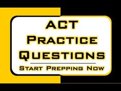 Free ACT test practice questions explained.  Find the help you need for hard ACT math practice problems.