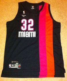 Hardwood Classics 1971-72 Miami Heat Shaquille O'Neal Reebok XL Length +2 Basketball Jersey #Shaq #Oneal #ShaqAttaq #Throwback #Vintage #MiamiHeat #32 #Sports #Jersey