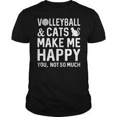 Volleyball And Cats Make Me Happy T Shirts, Hoodies. Check price ==►…