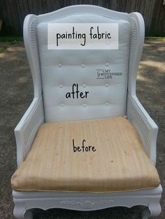 Discover how to paint upholstered furniture.