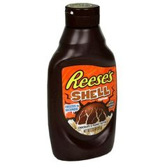 Reese's Peanut Butter Shell oz bottle pack of Yum, yum, yum! Love this chocolate and peanut ice cream shell topping. Reese's Chocolate, Halloween Chocolate, Chocolate Topping, Peanut Butter Candy, Chocolate Peanut Butter, Cereal Recipes, Snack Recipes, Chocolates, Reeses Ice Cream