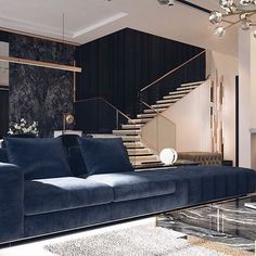 Lower level ceiling and stairway Living Furniture, Home Decor Furniture, Living Room Interior, Modern Furniture, Luxury Interior, Modern Interior Design, Luxury Living, Home And Living, Living Room Designs