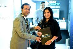Abhishek Goyal Director of BABA-Quartz with #Gunisha #Sanyal from #Hiranandani #Group!!!