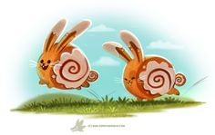 Daily Paint #1240. Cinnamon Bunnies by Cryptid-Creations Time-lapse, high-res and WIP sketches of my art available on Patreon (: Twitter • Facebook • Instagram • DeviantART