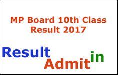 MP Board 10th Class Result 2017