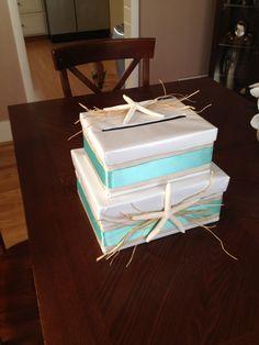 beach wedding themed wedding card box holder on Etsy, $95.00 ...