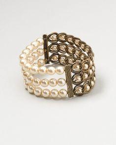 Chain of pearls bracelet