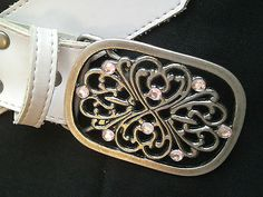 Belt Pink with Pink Stones & Gold Brads Size 8 PVC