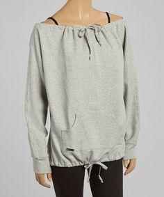 Look what I found on #zulily! Mondor Gray Off-Shoulder Sweatshirt by Mondor #zulilyfinds
