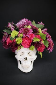 60+ of the Most Spooktacular Halloween DIYs Skull Floral Centerpiece This skull floral centerpiece is an eerily elegant DIY you'll want to re-create again and again.