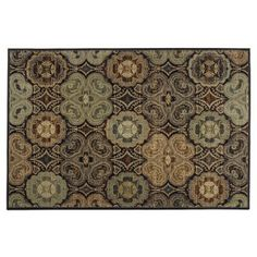 """Kaleidoscope Rug (5' x 7'6"""") possibly for living room or dining room"""