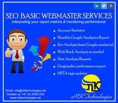 SEO Basic webmaster Services  www.nktechnologies.net