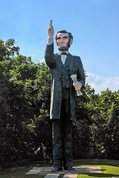 In Charleston, Illinois, President Abraham Lincoln delivers a very important message.