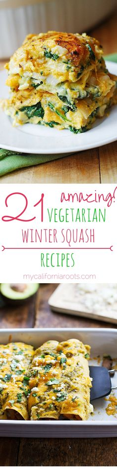 These 21 AMAZING Vegetarian Winter Squash Recipes are the perfect way to celebrate fall.