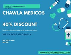 #HepatitisC #HIV #ANTI CANCER. Get 40% discount on Chawla Medicos, Call & Place your order: +91-9999098733