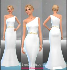 My Sims 4 Blog: Clothing - AF - Dresses - Long