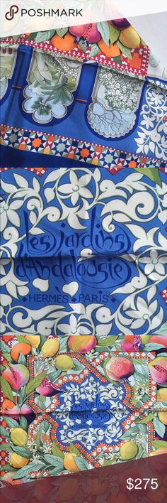Gorgeous Hermes scarf Never worn, although I do not have the box, amazing les Jardins scarf Hermes Accessories Scarves & Wraps