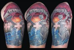 """""""Kill 'Em All"""", """"Ride the Lightning"""", """"Master of Puppets"""" and """"...And Justice For All"""" covers"""
