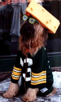 Go Green Bay Packers!  I must admit I am a little creeped out by this picture...
