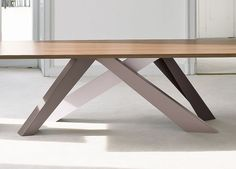 The Bonaldo Big dining table Go Modern Furniture 565 Kings rd London, Walnut Dining Table, Modern Dining Table, Extendable Dining Table, Dining Room Table, Table And Chairs, Steel Furniture, Dining Furniture, Modern Furniture, Furniture Stores