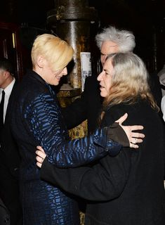 Tilda Swinton, Patti Smith, Jim Jarmusch. 'Only Lovers Left Alive' Screening in NYC. March 11, 2014