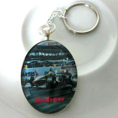 Personalised Formula 1 Racing Keyring £6.00