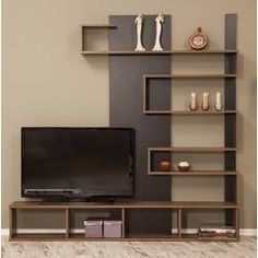 "Jacobsen Entertainment Center for TVs up to 50 "" - Tv wall unit - Tv Unit Decor, Tv Wall Decor, Room Decor, Wall Tv, Tv Cabinet Design, Tv Wall Design, Living Room Partition Design, Shelf Design, Tv Wanddekor"