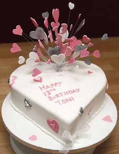 hearts and butterfly cake fondant - Buscar con Google