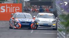 V8 Supercar hits Porsche Panamera V8 Supercars, Car Racer, Porsche Panamera, Super Cars, Van, Racing, Vehicles, Autos, Running