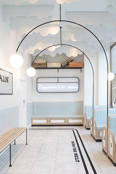 Maximalism – The Big Design Trend for Check Out These Maximalist Interiors Milk Train ice cream shop. Big Design, Design Shop, Cafe Design, Store Design, Art Deco Design, Design Styles, Interior Design Trends, Retail Interior Design, Commercial Interior Design