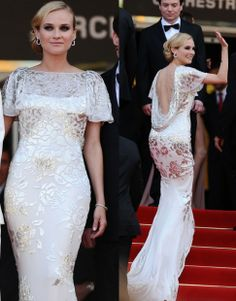 Look at the way this dress reflects light, its beautiful! Marchesa - worn by Diane Kruger