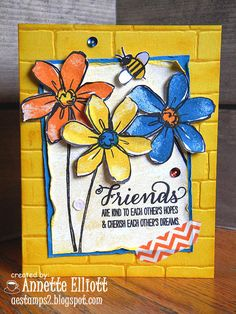 Here's the card I made using this weeks awesome color challenge at Sunday Stamps!  Aren't these colors gorgeous together?!  Why don't you head on over and join in on the fun!  http://sundaystamps.blogspot.com/2015/09/ssc109-its-color-time.html  happy stamping!  Annette