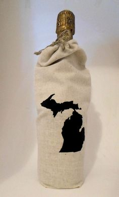 Natural Cotton Michigan Wine Bags by SlowKal on Etsy https://www.etsy.com/listing/205818598/natural-cotton-michigan-wine-bags