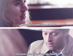 "8x17 Goodbye Stranger I love the meg and cas story :)  ""Save your brother and my unicorn"" tears"