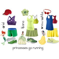 Princess running outfits for disney 1/2