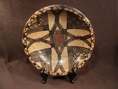 Ancien Plat Poterie Berbère Kabyle Kabylie Algérie Terre cuite ideqqi | JPEGbay.com