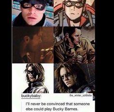 Sebby Stan as Bucky Barnes.